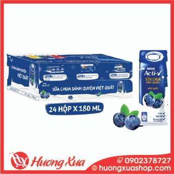 Thùng 24 Hộp Sữa Chua Nestlé Acti-V Việt Quất 180ml/hộp