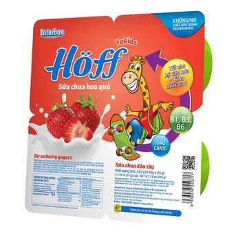 Sữa chua ăn trẻ em vị dâu Hoff