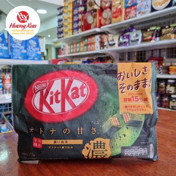 Bánh KitKat Strong Green Tea (13 thanh)