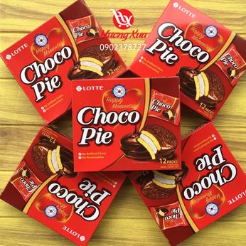 Bánh Chocopie Lotte Hàn Quốc vị truyền thống hộp 12 cái 336g