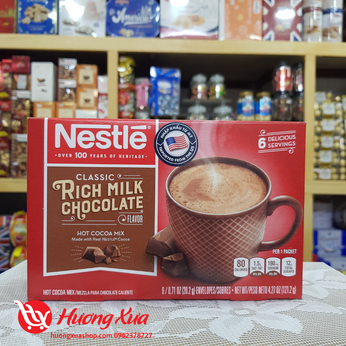 Cacao Neste Rich Milk Chocolate Hot Cocoa Mix hộp 121.2g