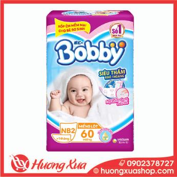Miếng lót Bobby Newborn 2 - 60 miếng (cho bé > 1 tháng tuổi)