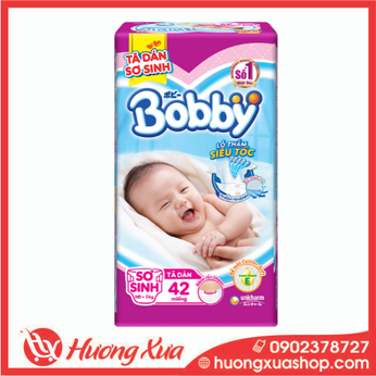 Tã dán Bobby sơ sinh 42 miếng (cho bé <5kg)