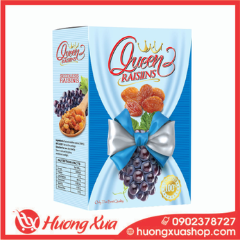 Nho khô đen Queen Raisins hộp 150g (1)
