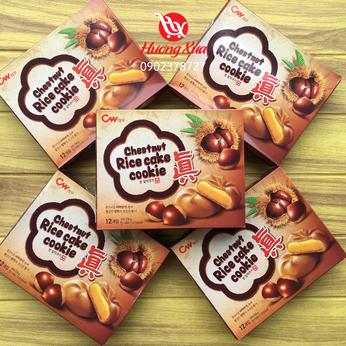 Bánh quy CW Hạt dẻ Chestnut Rice Cake Cookie hộp 240gr (12 bánh)