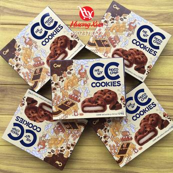 Bánh quy CW Chocolate Chip nhân nếp dẻo hộp 240gr (12 bánh)