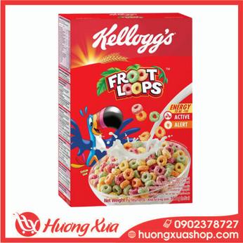 Ngũ cốc Kellogg's Froot Loops vị trái cây hộp 160g