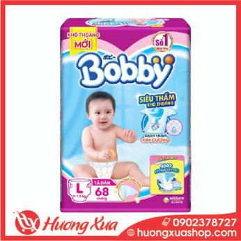 Tã dán Bobby size L 68 miếng (cho bé 9 - 13kg)