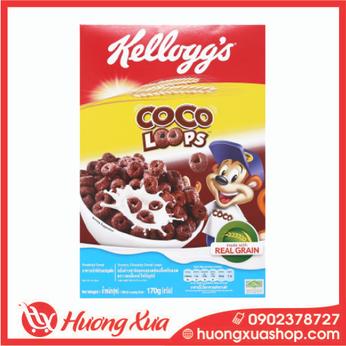 Ngũ cốc Kellogg's Coco Loops vị socola hộp 170g