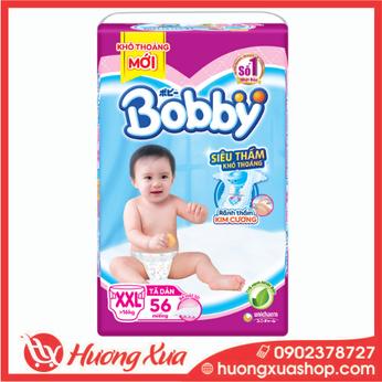 Tã dán Bobby size XXL56 miếng (cho bé 16kg trở lên)