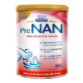 Sữa Pre Nan 400g dành cho trẻ nhẹ cân , thiếu tháng
