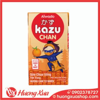 Sữa Chua Uống Kazu Chan Hương cam tự nhiên 48h*110ml