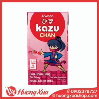 Sữa Chua Uống Kazu Chan Hương dâu tự nhiên 48h*110ml