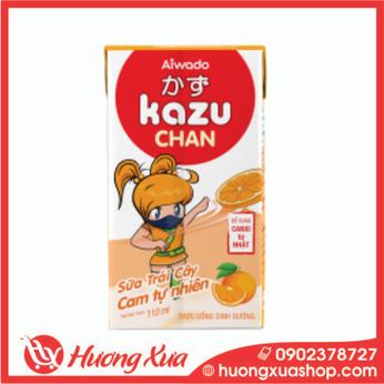 Sữa Trái Cây Kazu Chan Hương cam tự nhiên 48h*110ml