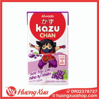 Sữa Trái Cây Kazu Chan Hương nho tự nhiên 48h*110ml