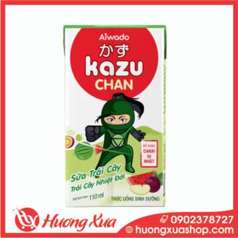 Sữa Trái Cây Kazu Chan Trái cây nhiệt đới 48h*110ml