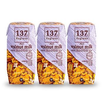 Sữa óc chó nguyên chất 137 Degrees 180ml - Lốc 3 hộp