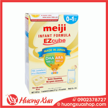 Sữa viên Meiji Infant Formula EZcube 432g cho bé0-12 tháng tuổi