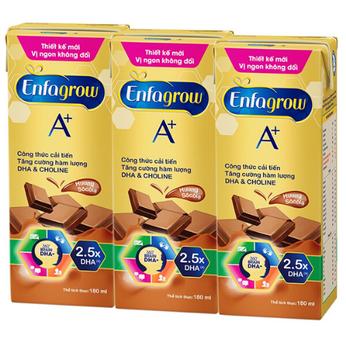 Sữa Enfagrow A+ 4 360 Brain Plus pha sẵn hương socola (24 hộp/180ml)