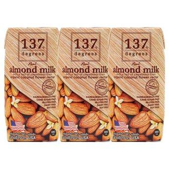 Sữa hạt hạnh nhân nguyên chất 137 Degrees - Lốc 3 hộp 180ml