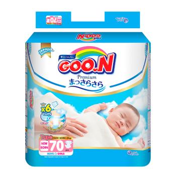 Tã dán GOO.N Premium cho trẻ mới sinh (70 miếng)