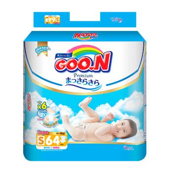 Tã dán GOO.N Premium cho trẻ từ 4-8kg size S (64 miếng)