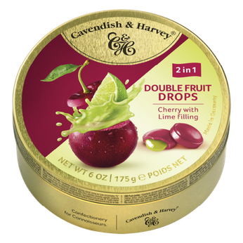 Kẹo trái cây Đức Vị anh đào nhân chanh (Cherry x Lime)Cavendish & Harvey 175g
