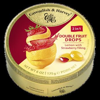 Kẹo trái cây Đức Vị chanh đào nhân dâu tây (Lemon x Strawberry) Cavendish & Harvey 175g