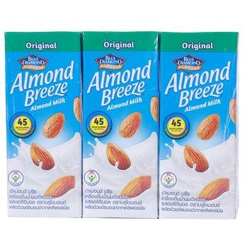 Sữa hạt hạnh nhân Almond Breeze Nguyên Chấtlốc 3 hộpx180ml