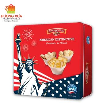 Bánh quy American Distinctive376g - Tin box