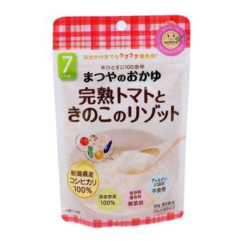 Cháo gạo Koshihikari ăn dặm với cà chua chín và nấm Matsuya (vị Risotto)