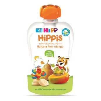 Thức ăn dặm 100% trái cây nghiền hữu cơ HiPP Organic  (Chuối, Lê, Xoài)