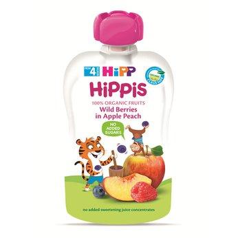 Thức ăn dặm 100% trái cây nghiền hữu cơ HiPP Organic (Dâu rừng, Táo, Đào)