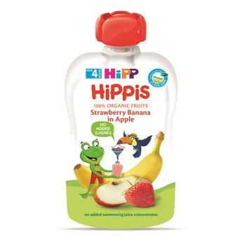 Thức ăn dặm 100% trái cây nghiền hữu cơ HiPP Organic(Dâu tây, Chuối, Táo)