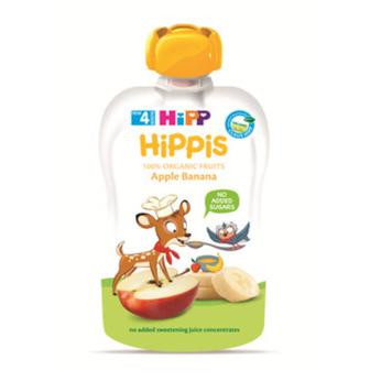 Thức ăn dặm 100% trái cây nghiền hữu cơ HiPP Organic (Táo, Chuối)