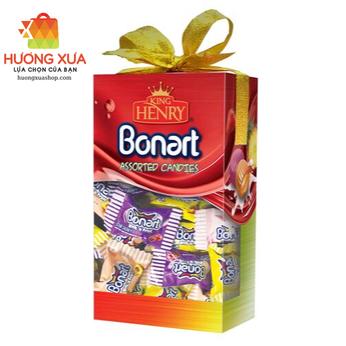 Kẹo King Henry Bonnart Assorted Candies Hộp Giấy Nơ Đỏ 250g