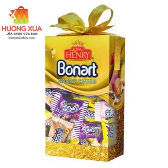 Kẹo King Henry Bonnart Assorted Candies Hộp Giấy Nơ Vàng 250g
