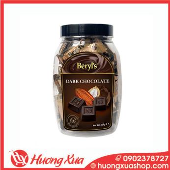 Socola đen Beryls - Dark Chocolate hủ 125g