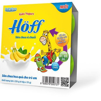 Sữa chua trẻ em vị chuối Hoff