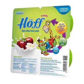 Sữa chua ăn trẻ em vị táo Hoff