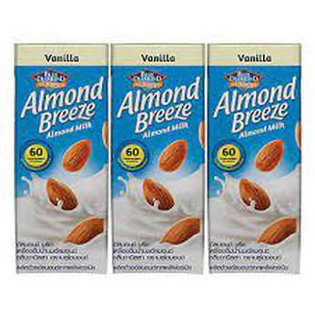 Sữa hạt hạnh nhânAlmond BreezeVanilla lốc 3 hộpx180ml