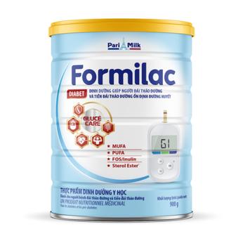Sữa Formilac Diabet  giúp người đái tháo đường  ổn định đường huyết