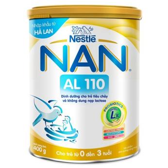 Sữa Nan AL 110 400g cho trẻ bị tiêu chảy do bất dung nạp Lactose
