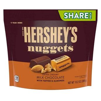 Socola sữa hạnh nhân Hershey Mỹ Hershey's Nuggets Milk Chocolate with Almonds 286g