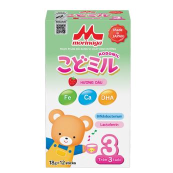 Sữa Morinaga số 3 (216g ) hương dâu
