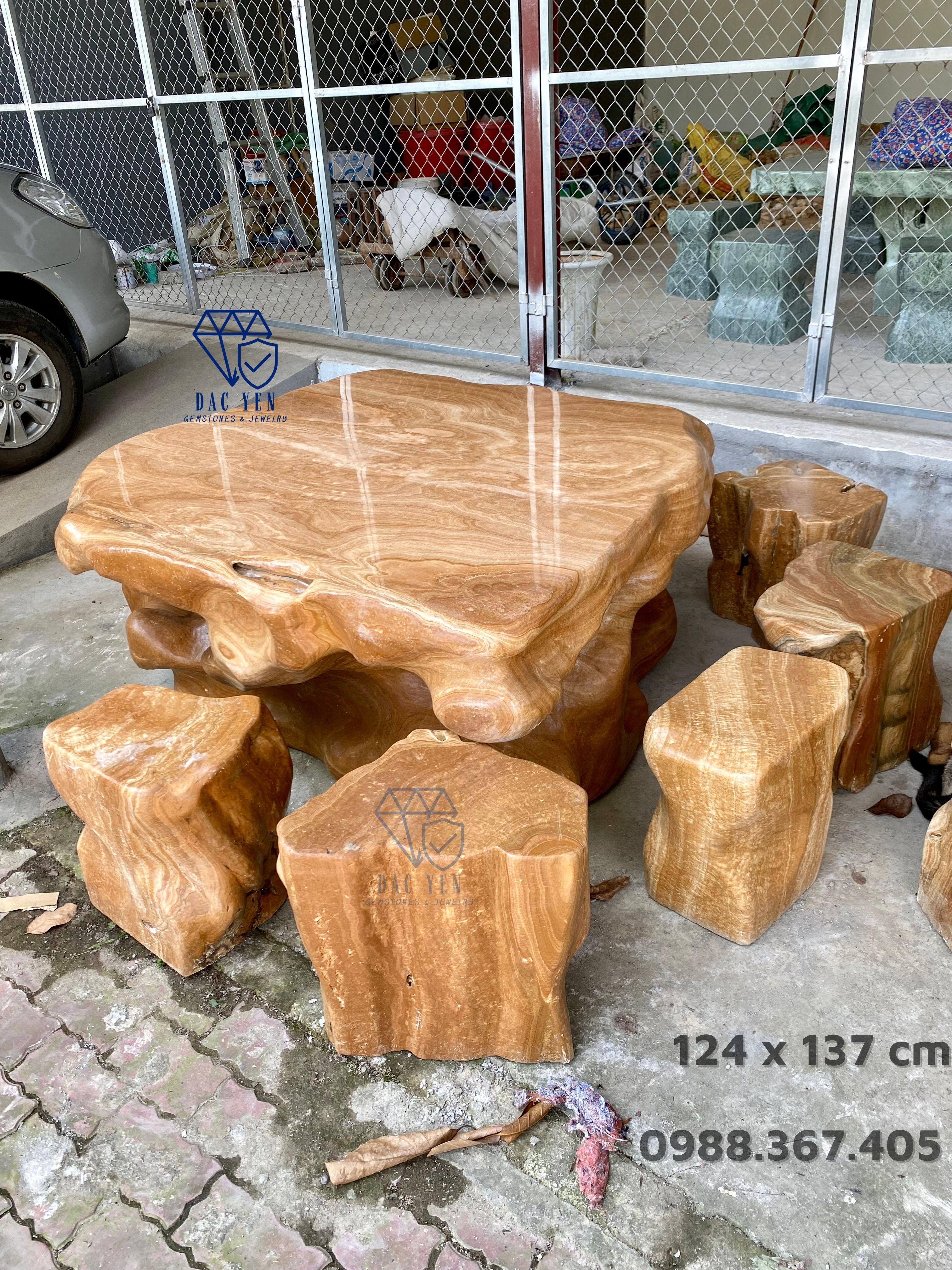 Bàn ghế đá tự nhiên, bàn ghế đá ĐẸP, bàn ghế đá nguyên khối GIÁ RẺ