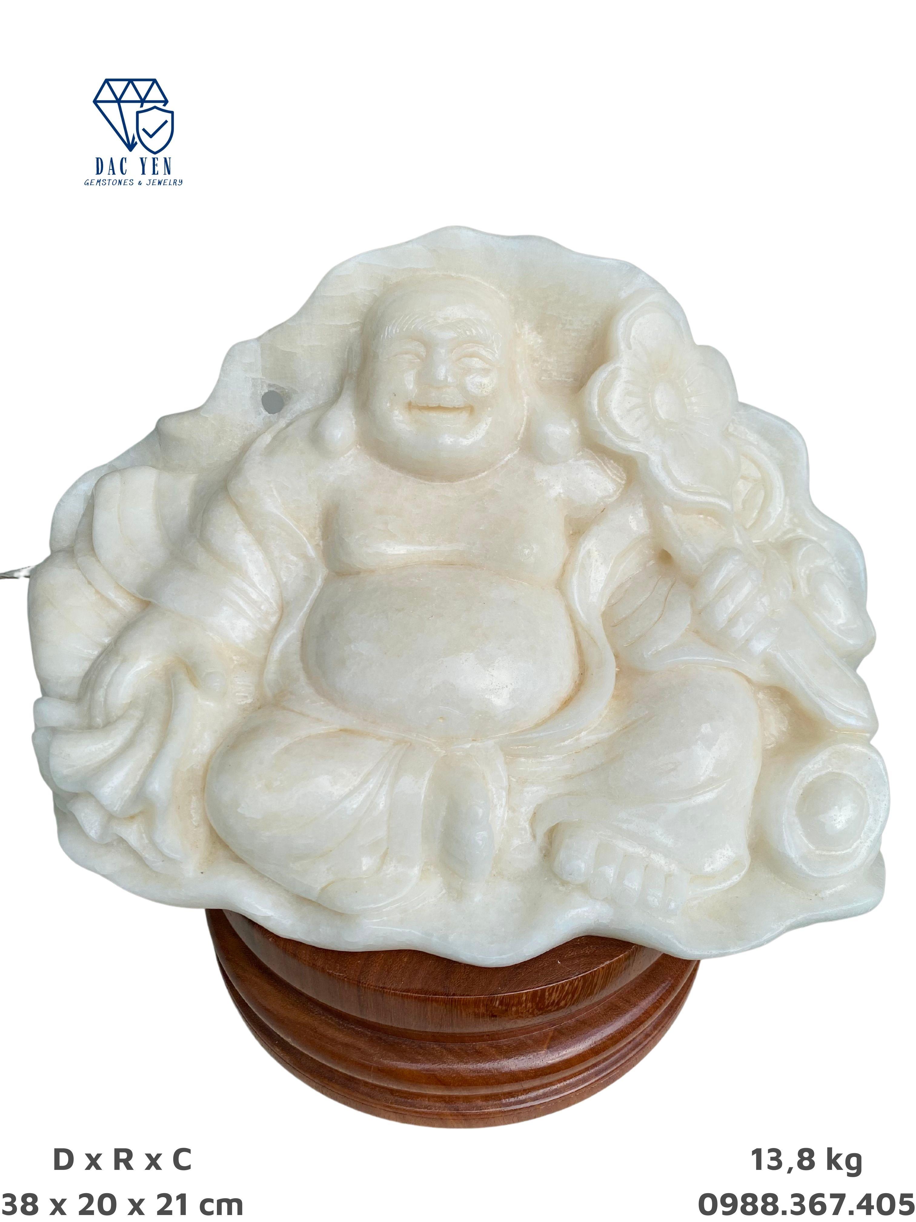 Tượng Phật Di Lặc, phật cười, tượng di lặc đá canxit, tượng di lặc