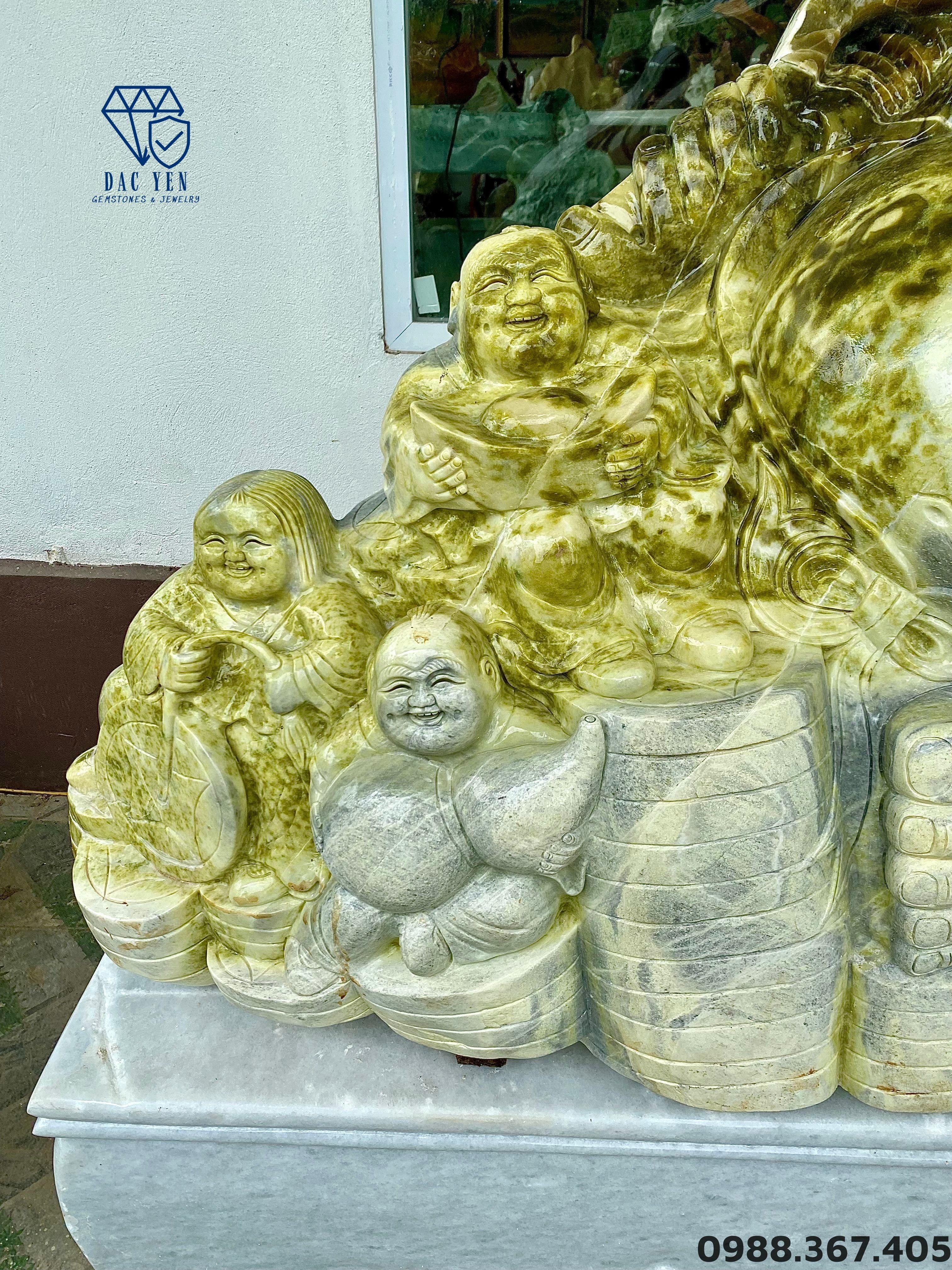 Tượng Di Lặc Ngũ Phúc Phong Thủy VIP, tượng ngũ phúc, tượng phong thủy