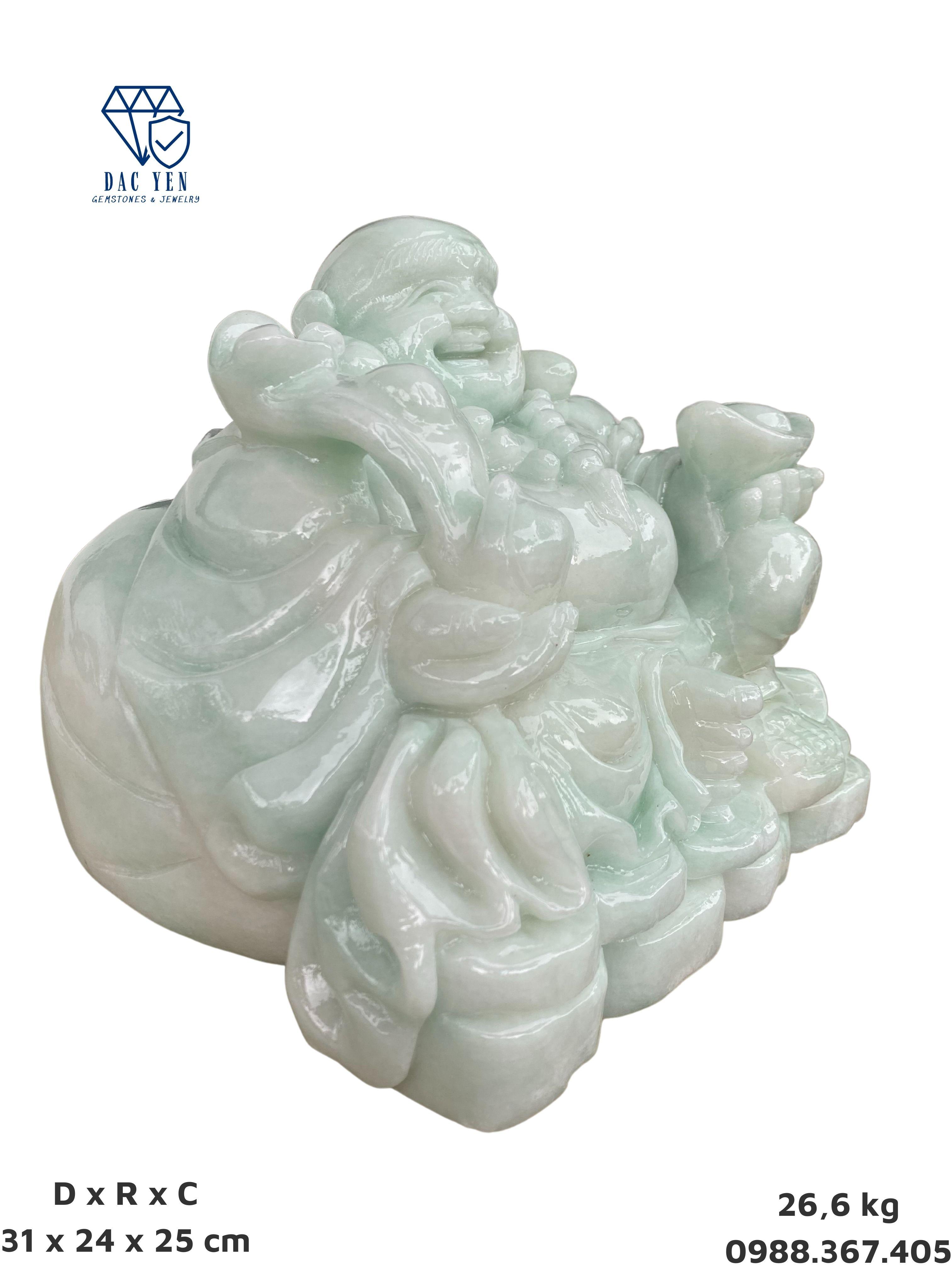 Tượng Phật Di Lặc, phật cười, tượng di lặc đá trắng tự nhiên, di lặc