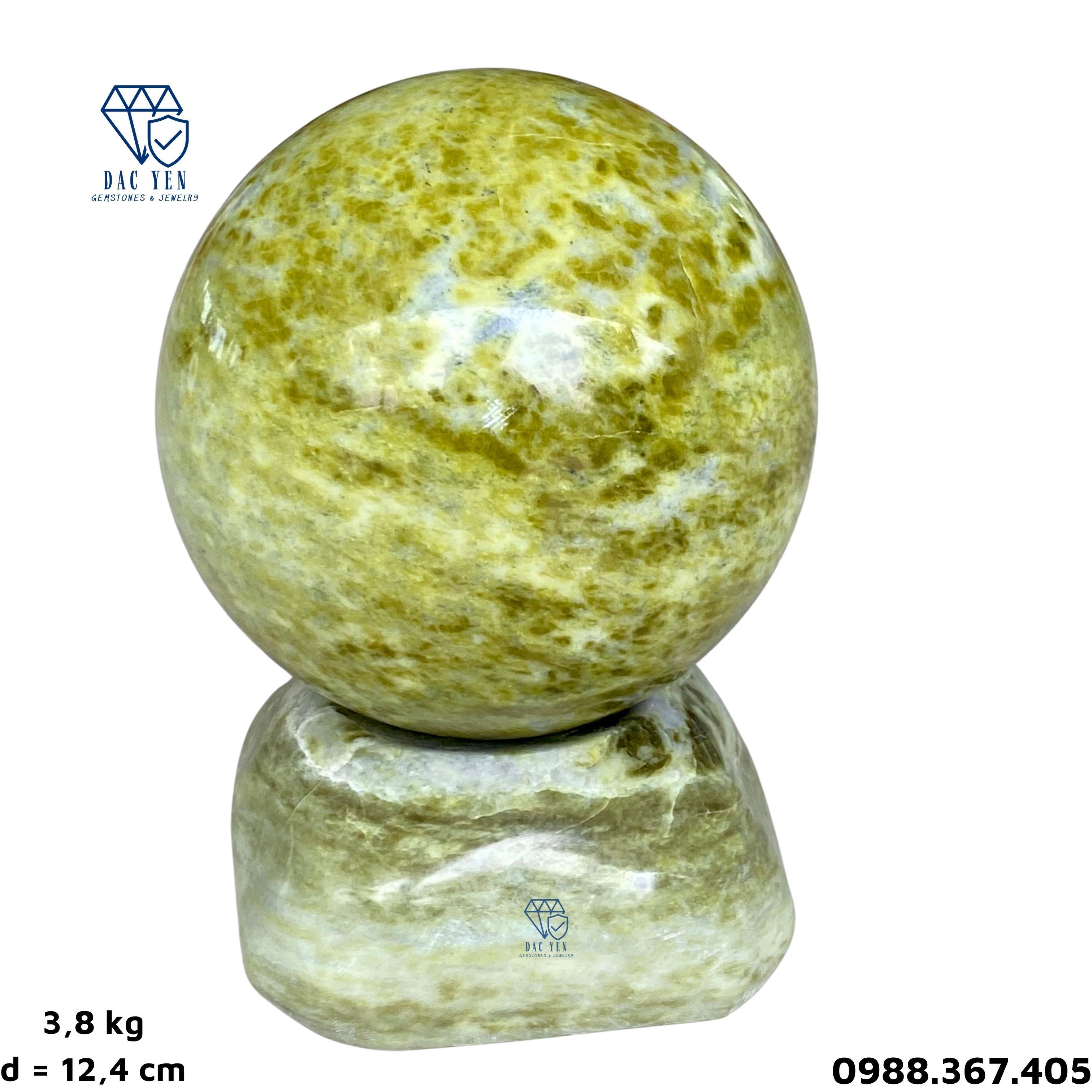 Bi cầu đá,  quả cầu đá tự nhiên, bi cầu ngọc serpentine, đá cảnh đẹp